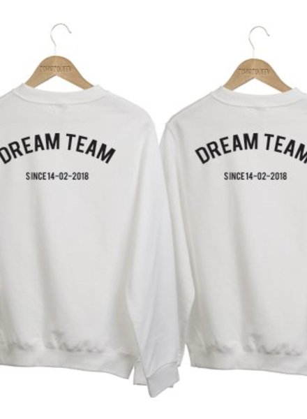 5beffd6b5a39af COUPLE SWEATERS DREAM TEAM SINCE (DATUM)