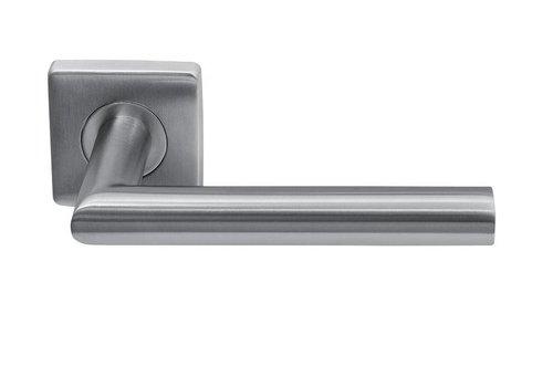 Stainless steel door handles Jersey square