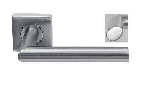 """Stainless steel door handle """"Dakar"""" on square rosette"""