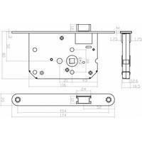 Wit loopslot met afgeronde witte voorplaat 20x175mm, doorn 50mm