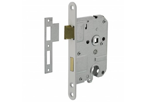 Cylinder lock 55 mm, white, 20x175mm, mandrel 50mm