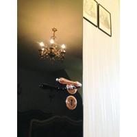 Rosa deurklinken Da Vinci met sleutelplaatjes