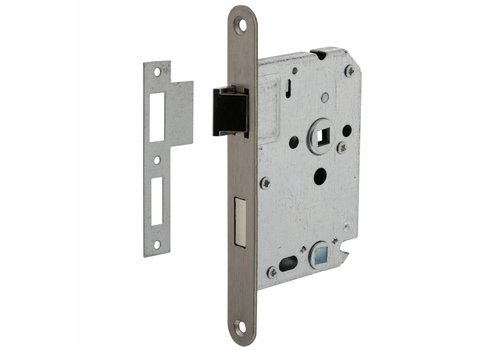 Stainless steel toilet lock 63 / 8mm, front plate 20x175mm, mandrel 50mm