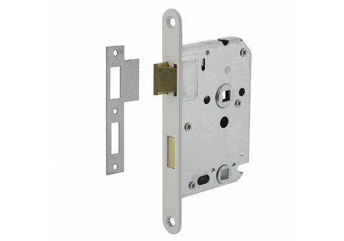 Bathroom / toilet lock 63/8mm, white, 20x175mm, mandrel 50mm incl. Lock plate