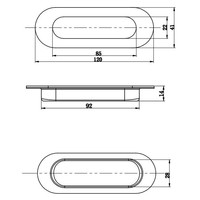 Inkapschelp rond 120x40mm RVS per stuk
