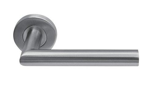 Stainless steel door handles Jersey round