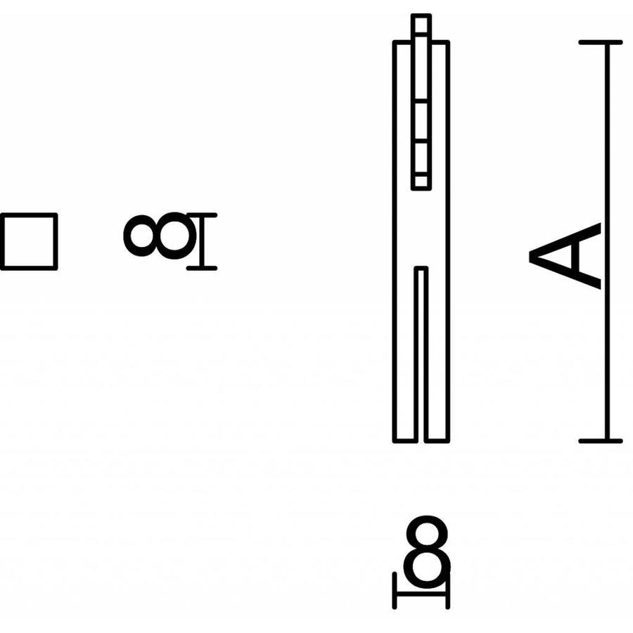 Stift voor voordeur 8 mm x 60 mm