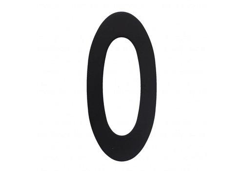 Numéro de maison n° 0 150 mm acier inoxydable/noir mat