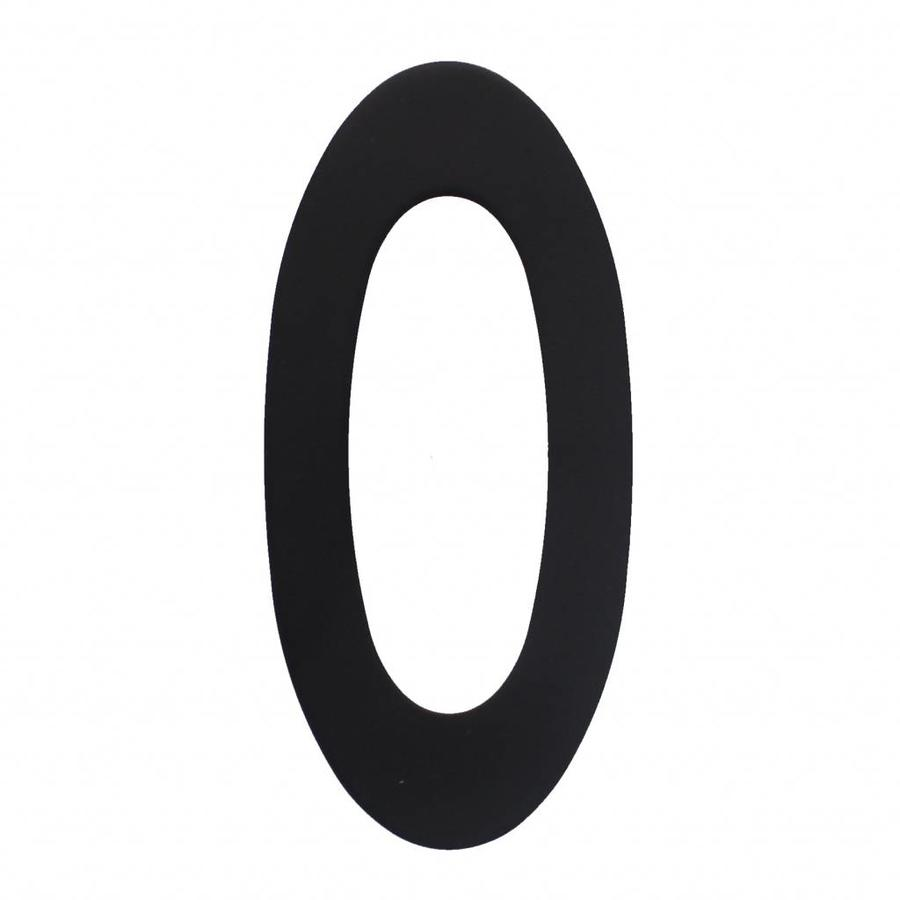 House number No. 0 150mm Stainless steel / matte black