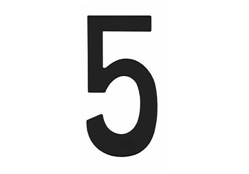 Nummer fünf 150mm Edelstahl / schwarz matt
