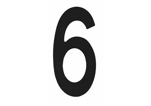 Schwarze Hausnummer 6 - 150mm