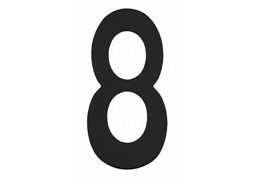 Huisnummer 8 150mm RVS/mat zwart
