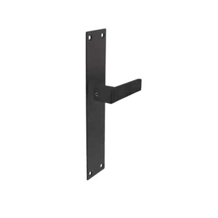Zwarte deurkrukken Amsterdam voor zwart schild