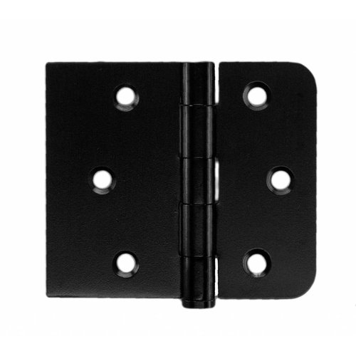Kogelscharnier rechte hoek zwart 80x94x2 mm