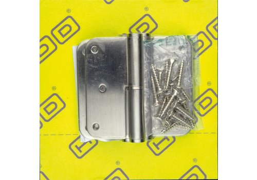 Paumelle Skin 76x76x2,5mm stainless steel 201 right 3 pieces + screws