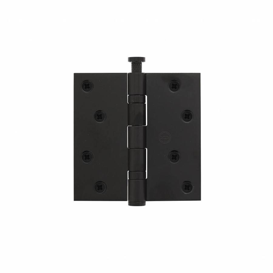 """Kogelscharnier recht 3,5 """""""" 89x89x2,4 RVS zwart"""