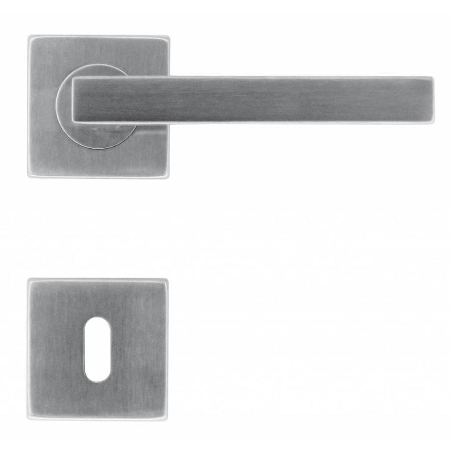 RVS deurklinken Kubic shape 16 mm met sleutelplaatjes