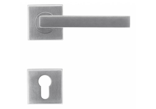 RVS deurklinken Kubic shape 16 mm met PZ