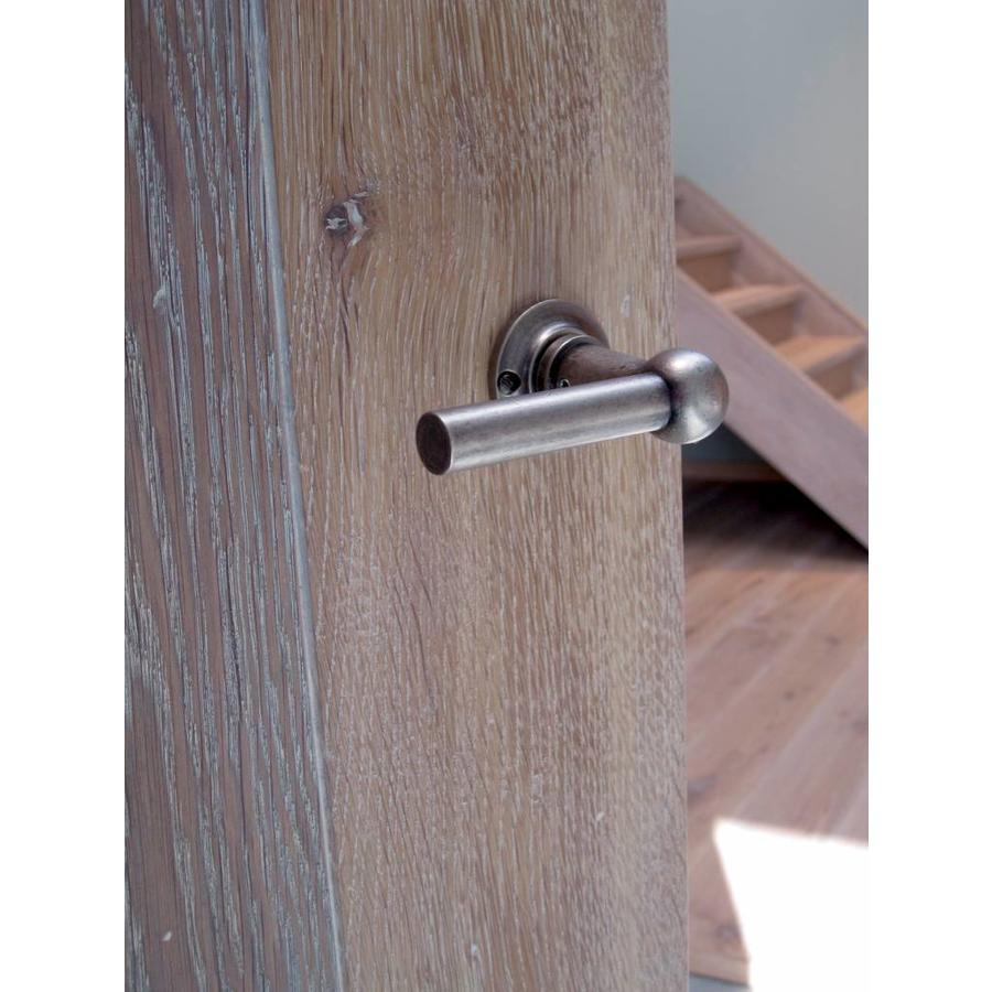 Deurklink Petra  T+L Old Silver met sleutelplaatjes voor standaard slot