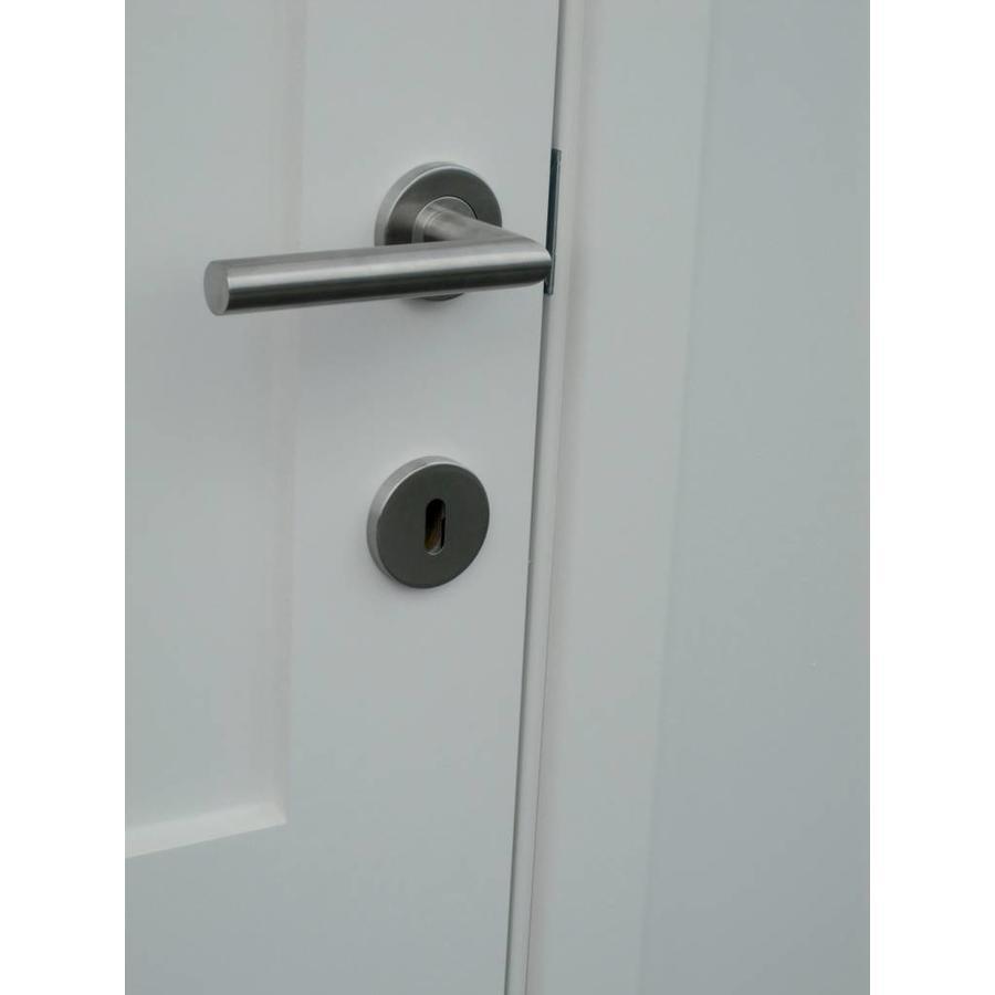RVS deurklinken I shape 19mm met WC garnituur