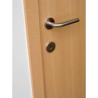 RVS deurklinken L Shape 19 mm met cilinderplaatjes