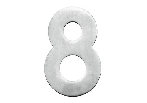 House number 8 stainless steel 130mm