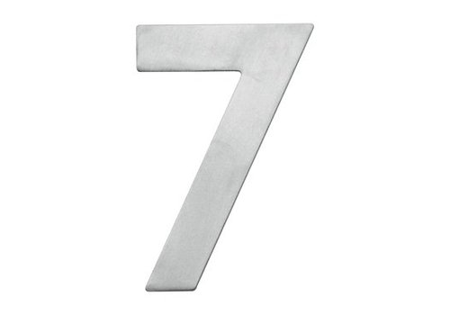 House number 7 stainless steel 130mm
