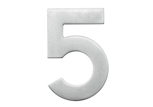 Numéro de maison 5 en acier inoxydable 130mm