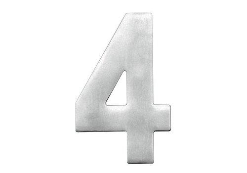 Numéro de maison 4 en acier inoxydable 130mm