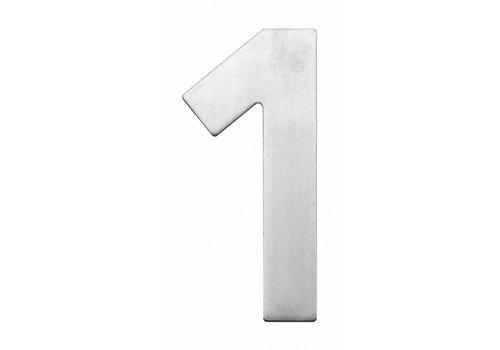 """NUMÉRO DE MAISON PLAT """"1"""" INOX PLUS 130MM"""