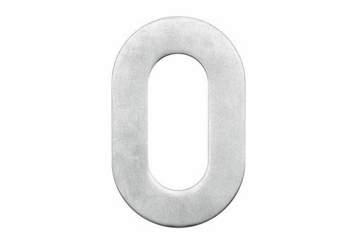 Numéro de maison 0 en acier inoxydable 130mm
