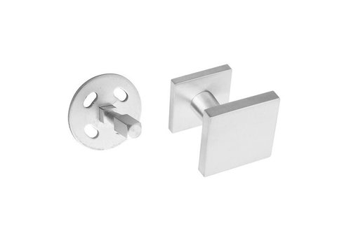Front door knob fixed square one-sided mounting stainless steel