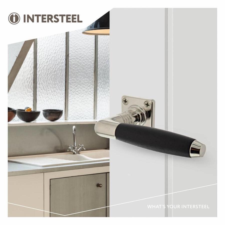 Door handle Ton Basic mat nickel / ebony with square rosette