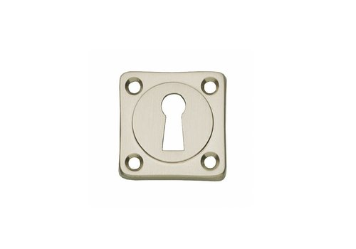 1 Key plate square basic nickel matt