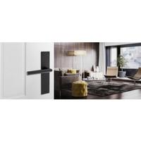 Door handle pair Jura on blind renovation shield black