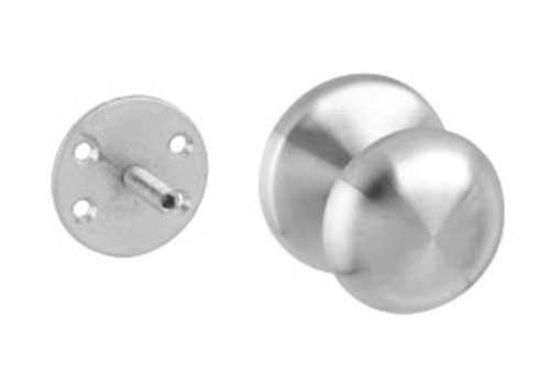Front door knob fixed mushroom one-sided mounting stainless steel