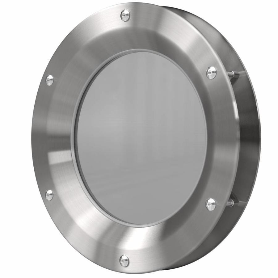 RVS patrijspoort B1000 250 mm + doorzichtig veiligheidsglas