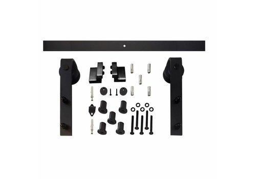 Système de porte coulissante Basic front noir mat