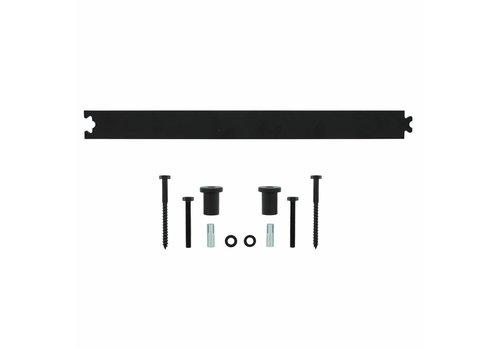 Rear rail 45 cm matte black