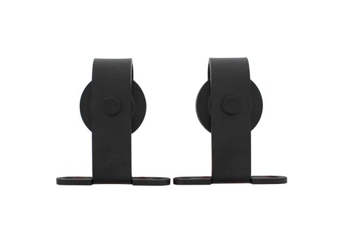 Set of 2 rollers straight incl. Mounting, steel matte black