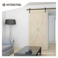 Sliding door system 2 meters, Basic front matt black