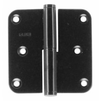 Hinge right 80x80x2.5mm black