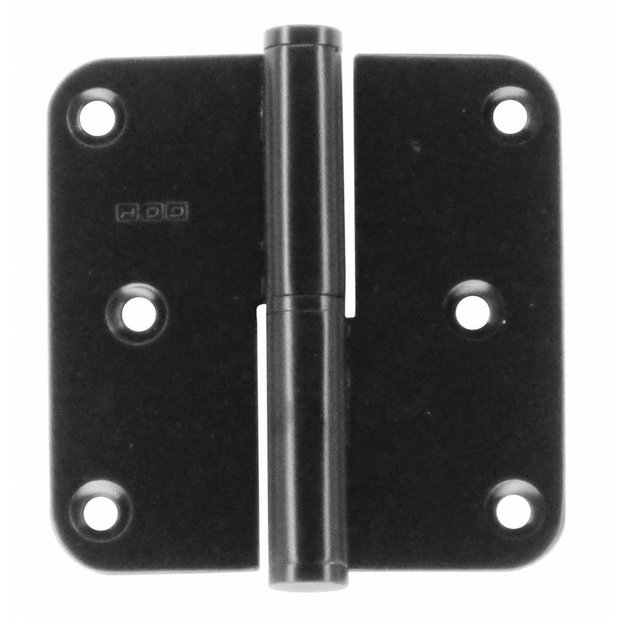 HINGE RIGHT 80X80X2,5 BLACK