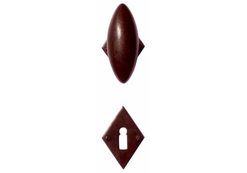 Door handles 'Olive diamond' rust with BB