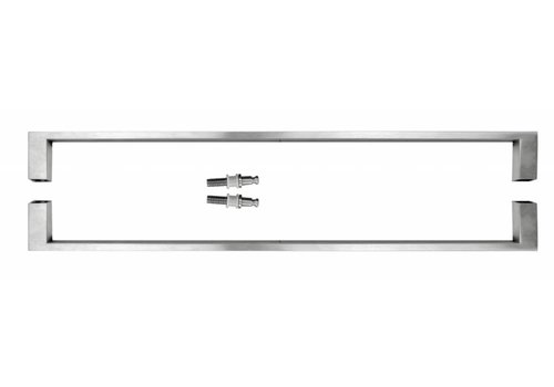 "Stainless steel door handles ""Cosmic"" U 20/500 pair for glass"