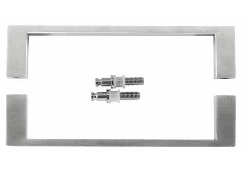 "Stainless steel door handles ""Cosmic"" U 20/200 pair for glass"