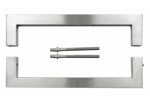 Door handle Cubica 25/300 stainless steel plus door thickness> 3 cm