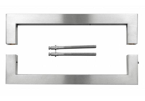 Poignée de porte Cubica en acier inoxydable 25/300 plus épaisseur de porte> 3 cm