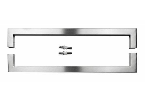Door handle Cubica 25/500 inox plus pair for glass