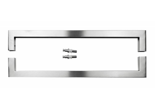 "Stainless steel door handles ""Cubica"" U 25/500 pair for glass"